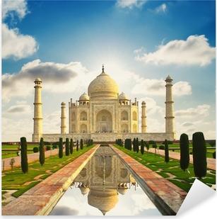 Sticker Pixerstick Taj Mahal en Inde