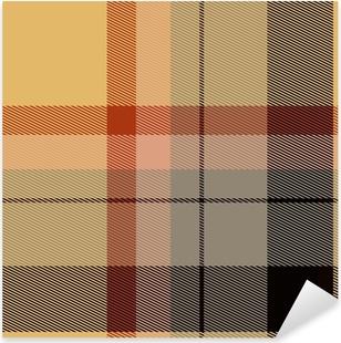 Sticker Pixerstick Tartan plaid écossais matériel texture design pattern