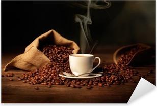Sticker Pixerstick Tazzina di Caffè Fumante