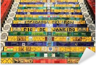 Pixerstick Sticker Tegels Stappen op lapa in Rio de Janeiro Brazilië
