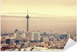 Tehran Skyline Pixerstick Sticker