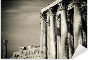 Temple of Olympian Zeus and Acropolis, Athens Pixerstick Sticker