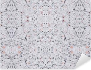 Sticker Pixerstick Terrazzo plancher texture ancienne ou modèle de pierre polie design sans soudure pour le fond et la couleur belle