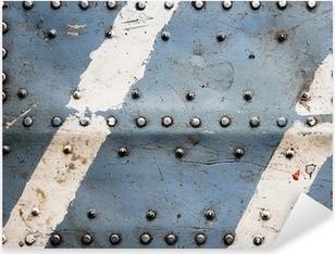 Sticker Pixerstick Texture en métal avec des rivets, fuselage de l'avion