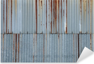texture métal, tôle ondulée rouillée Pixerstick Sticker