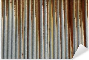Pixerstick Sticker Textuur metaal, roestige golfplaten