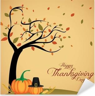 Thanksgiving day Pixerstick Sticker