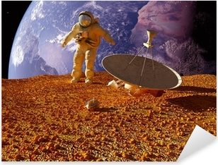 The astronaut Pixerstick Sticker