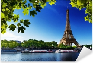The Eiffel Tower on the Seine Pixerstick Sticker