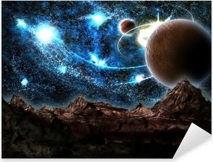 the lost world, planet, cosmos Pixerstick Sticker