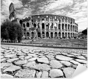 Pixerstick Sticker The Majestic Colosseum, Rome, Italië.