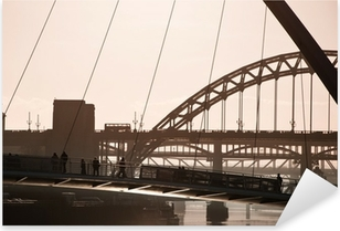 The Millenium and Tyne Bridges. Newcastle Upon Tyne. Pixerstick Sticker