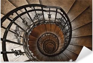 The spiral tower stairs Pixerstick Sticker