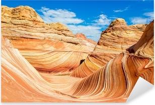 The Wave, Arizona rocky desert Pixerstick Sticker