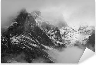 Pixerstick Sticker The Wetterhorn (3692m) over Grindelwald village, Switzerland