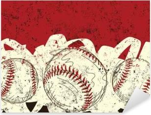 Three baseballs Pixerstick Sticker