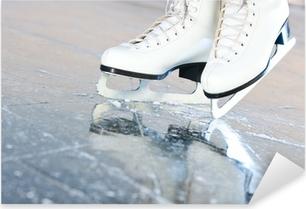Pixerstick Sticker Tilted natuurlijke versie, schaatsen met reflectie