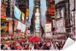 Times Square New York City Pixerstick Sticker