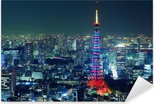 Tokyo city Pixerstick Sticker