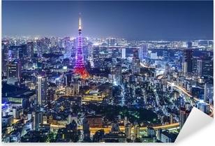 Tokyo Japan City Skyline Pixerstick Sticker