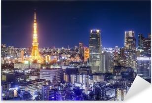 Tokyo, Japan Skyline Pixerstick Sticker