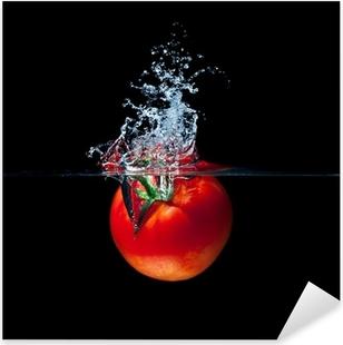 tomato splash Pixerstick Sticker