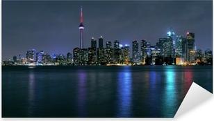 Pixerstick Sticker Toronto stad bij nacht