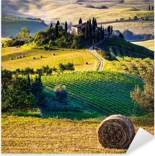 Sticker Pixerstick Toscane, Paysage italien