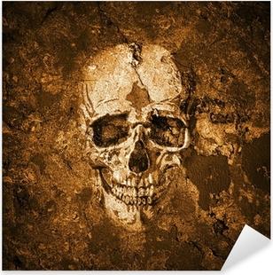 Totenkopf Hintergrund Pixerstick Sticker