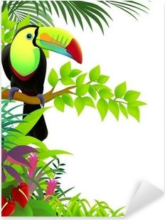 Sticker Pixerstick Toucan oiseau dans la jungle