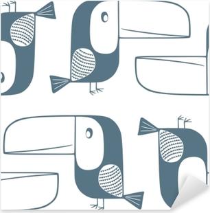 Toucans - Kubem Studio Pixerstick Sticker