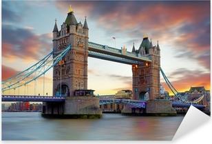 Sticker Pixerstick Tower Bridge à Londres, Royaume-Uni