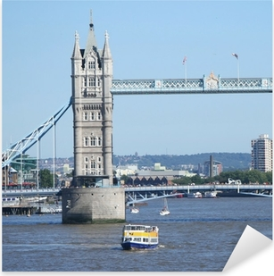 Tower bridge and tourist boats Pixerstick Sticker