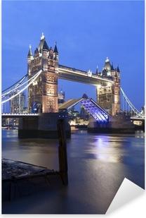 Pixerstick Sticker Tower Bridge bij nacht, Londen