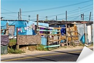 Township near Cape Town, South Africa Pixerstick Sticker
