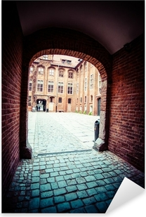 Traditional architecture in famous polish city, Torun, Poland. Pixerstick Sticker