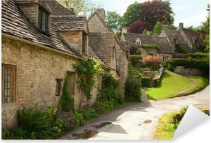 Traditional Cotswold cottages in England. Bibury , UK. Pixerstick Sticker