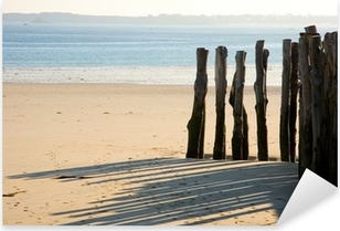 Pixerstick Sticker Traditionele houten staken in heilige-Malo (Bretagne, Frankrijk)