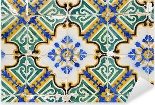Pixerstick Sticker Traditionele Portugese tegels, Tegels