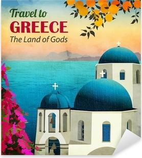 Travel to Greece Poster Pixerstick Sticker