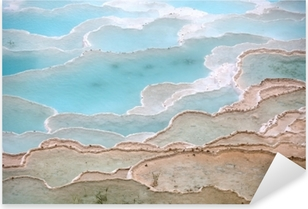 Travertine pools and terraces in Pamukkale Turkey Pixerstick Sticker