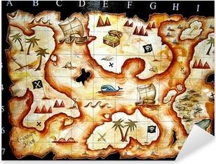 treasure map game Pixerstick Sticker