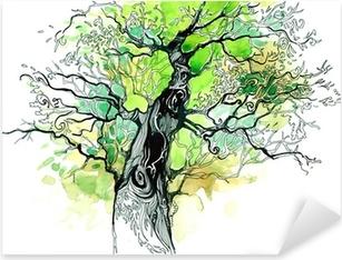 tree trunk Pixerstick Sticker