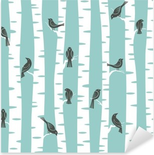 trees pattern Pixerstick Sticker