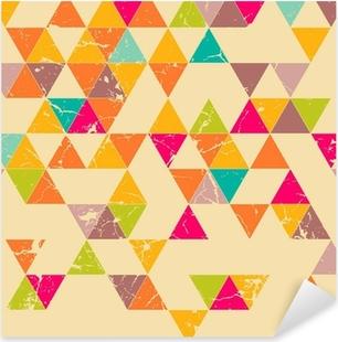 Triangles grunge seamless pattern Pixerstick Sticker