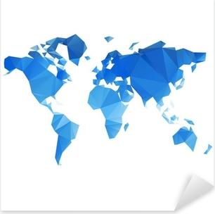 Detailed vector world map sticker pixers we live to change triangular world map vector file pixerstick sticker gumiabroncs Choice Image