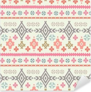 Tribal art ethnic boho seamless pattern Pixerstick Sticker