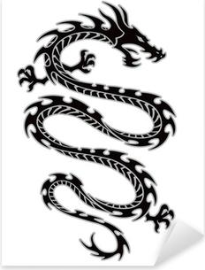 Pixerstick Sticker Tribal dragon tattoo