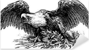 tribal eagle tattoo Pixerstick Sticker