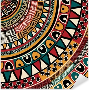 Tribal ethnic background Pixerstick Sticker